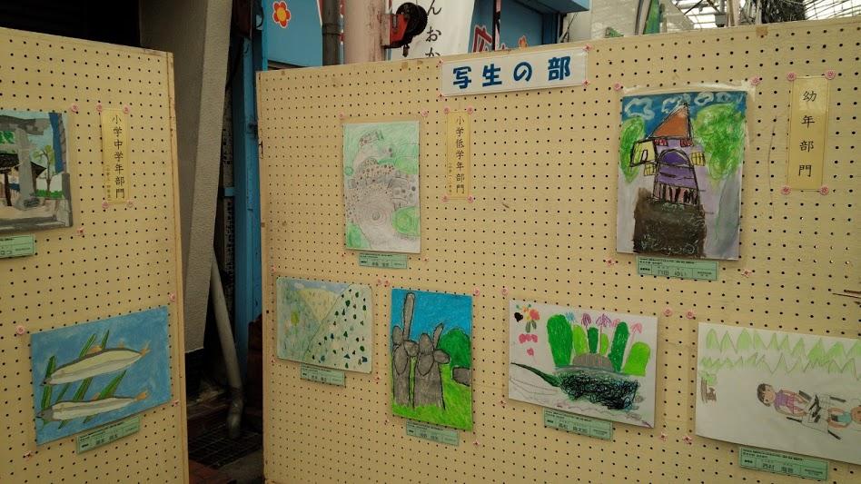 市内子どもたちの作品展示コーナーも
