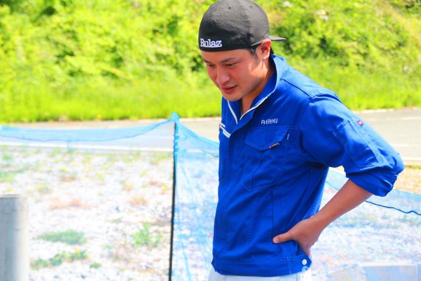福岡県から移住し、アマゴの養殖に取り組む。