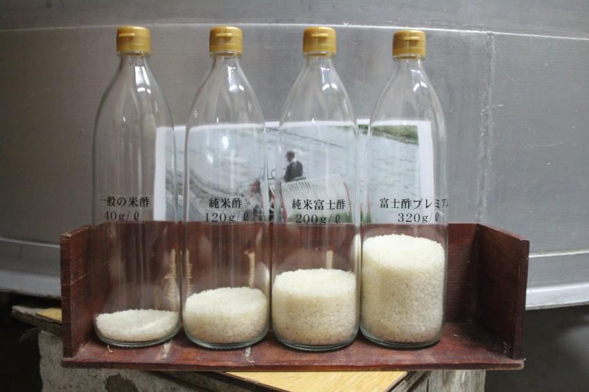 酢に使われているお米量の比較 富士酢レベルになると砂糖を混ぜなくても甘い