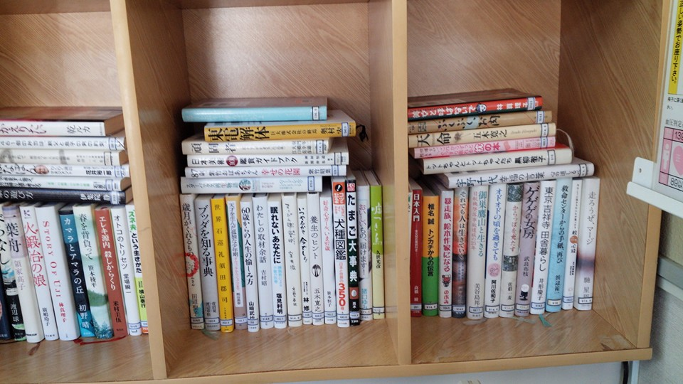今回は写真少なめです。 高梁市では移動図書館もやっています。これは宇治市民センターの本棚